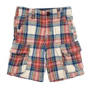 Mini Boden Plaid Cargo Shorts 4